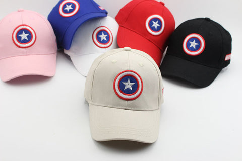 Doitbest 2-8 years old Captain America Children Hip Hop Solid Baseball Cap Summer kids Sun Hat Boys Girls snapback Caps