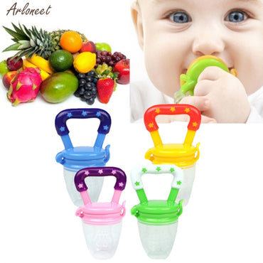 New Baby Pacifier Safety Silicone Toddlers Teether Vegetable Fruit Teething Toy Ring Chewable Soother Eat Fruit food supplement