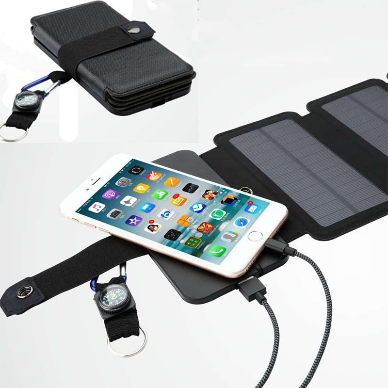 Portable Solar Panel Phone Charger