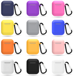Apple Airpods Silicone Shockproof Case With Clip