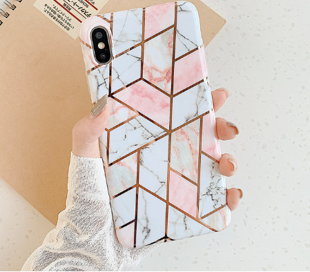 Geometric Marble iPhone Cases