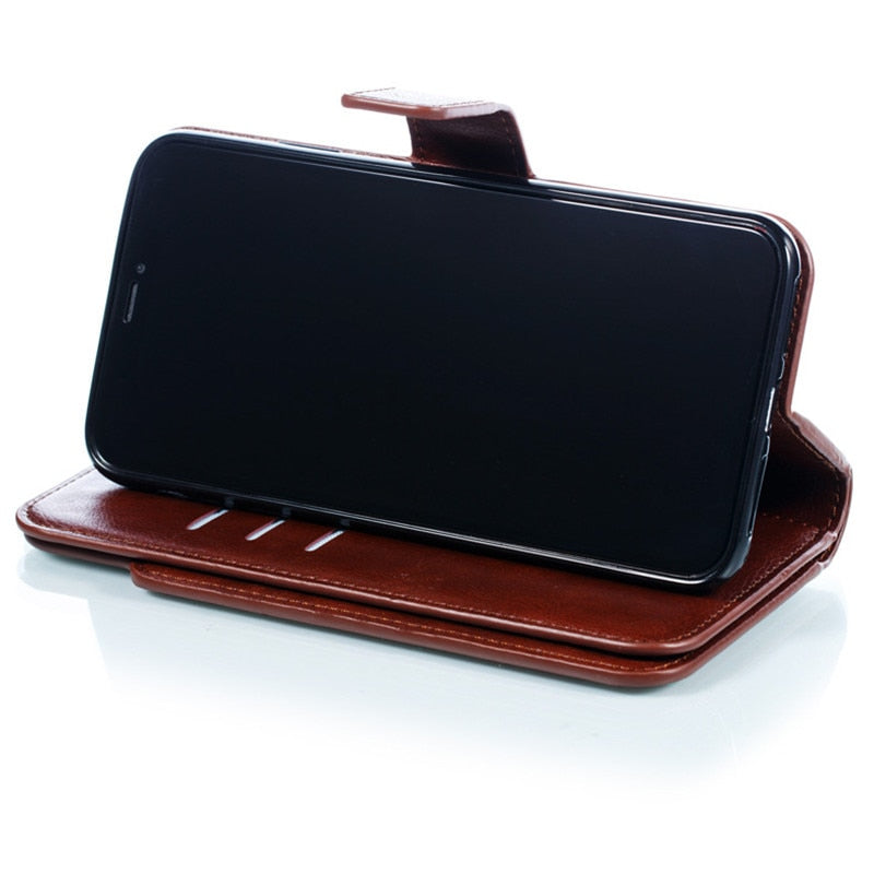 Authentic Leather Wallet iPhone Case