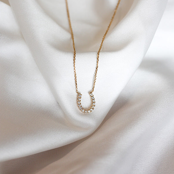 Horseshoe Diamond Necklace - Jureve