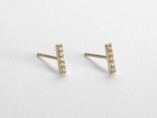 Diamond Line Stud Earring - Jureve