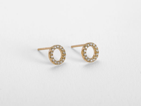 Circle Diamond Earrings - Jureve