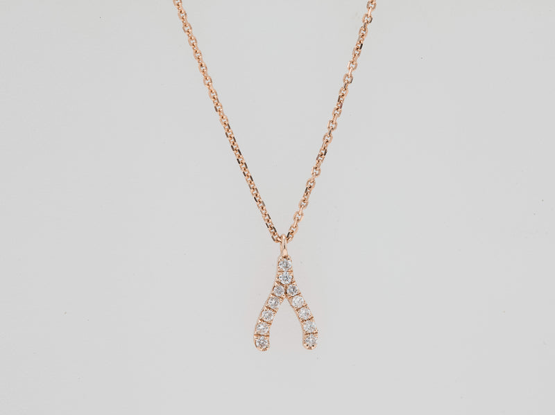 Wish Bone Diamond Necklace - Jureve