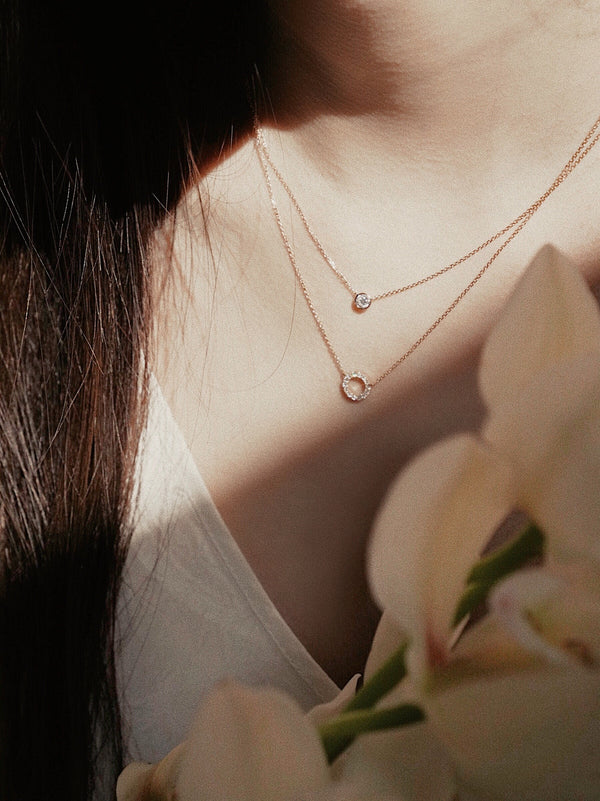 Circle Diamond Necklace - Jureve