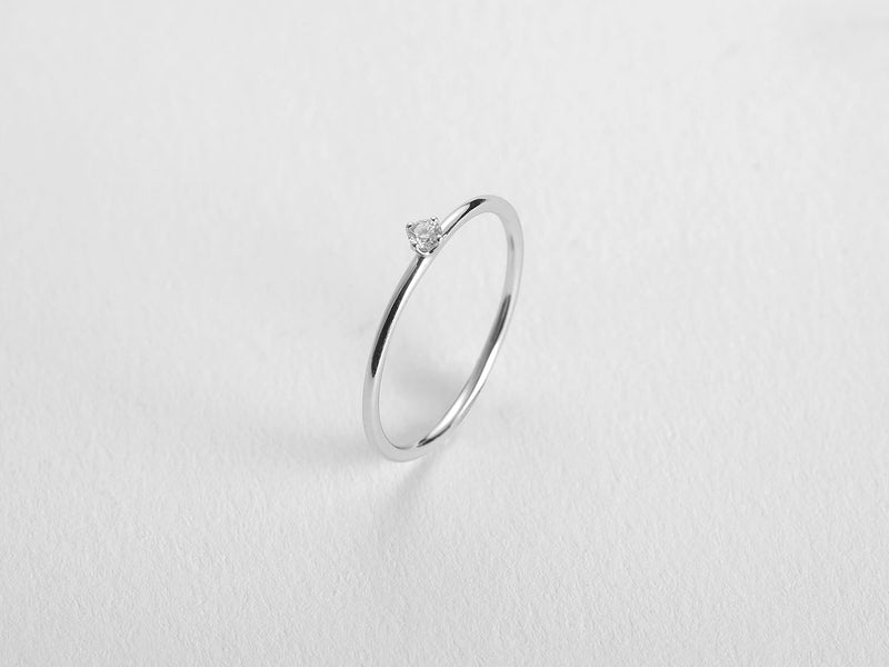 Solitaire Diamond Ring - Jureve