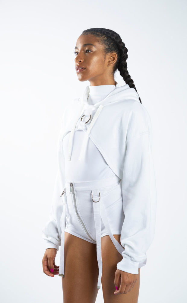 Cropped Harness Hoodie