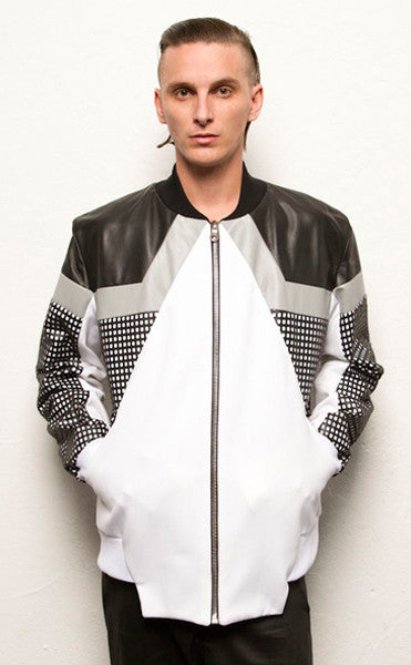 Textured Trio Bomber