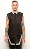 Sleeveless Button Up
