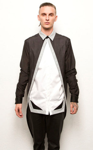 Long Sleeve Droptail Button Up
