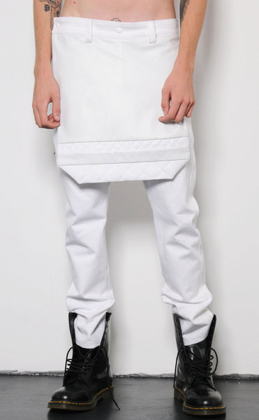 Quilted Flap Trousers