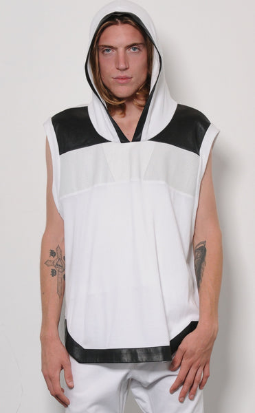 Hooded Geo Cut Tank