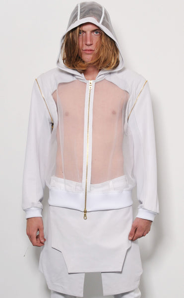 Sheer Zipper Bomber