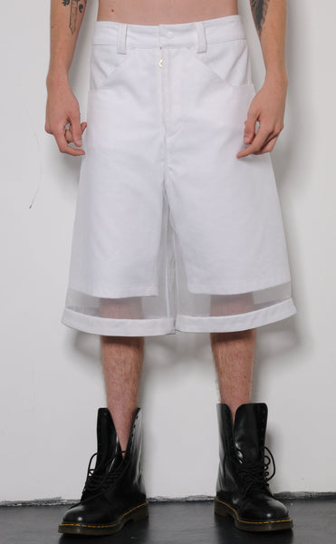 Drop Hem Shorts