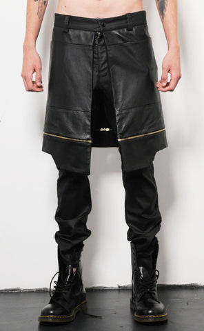 Zipper Kilt Trousers
