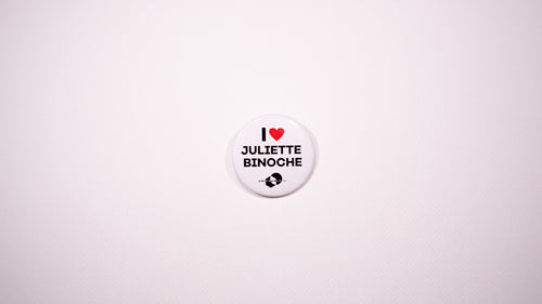 Badge I Love Juliette Binoche