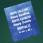 Multicultural Happy Holidays Trio, 8x10
