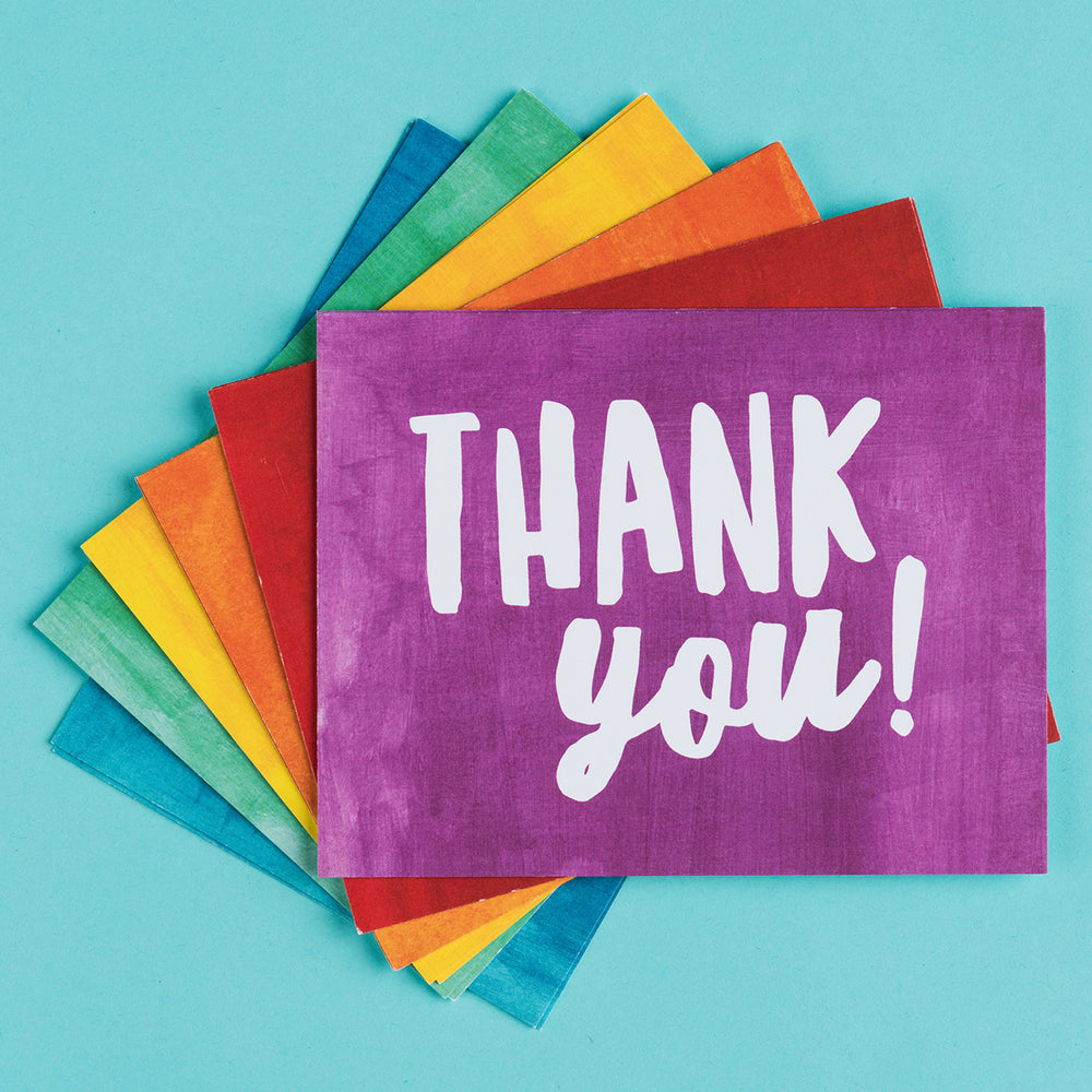 Kids Rainbow Thank You notecards