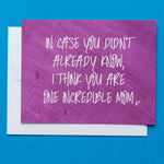 Incredible Mom Flat Greeting Card