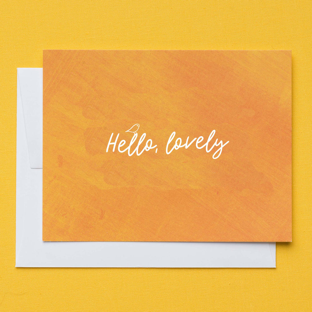 Hello Lovely Flat Greeting Card