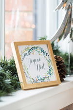 Joyeux Noel Square Card/Print, Set of 5