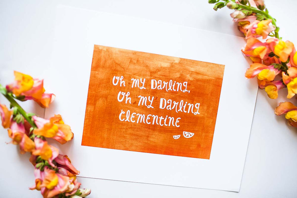 Annie Taylor Designs - Oh My Darling Clementine print