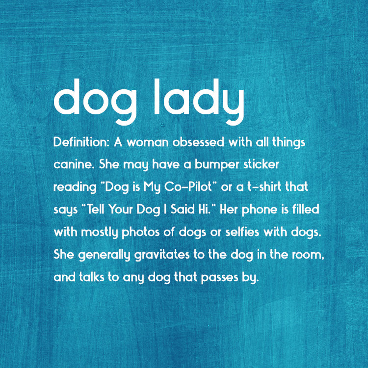 Dog Lady Square Greeting Card