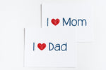 "I ""Heart"" Mom Greeting Card"