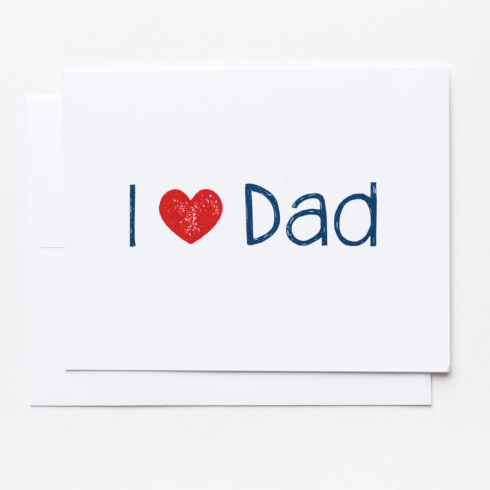 "I ""Heart"" Dad Greeting Card"