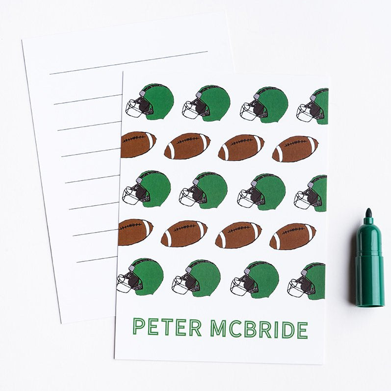Kids Football Personalized Notecards