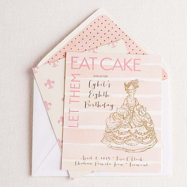 Let Them Eat Cake! Personalized Invitations
