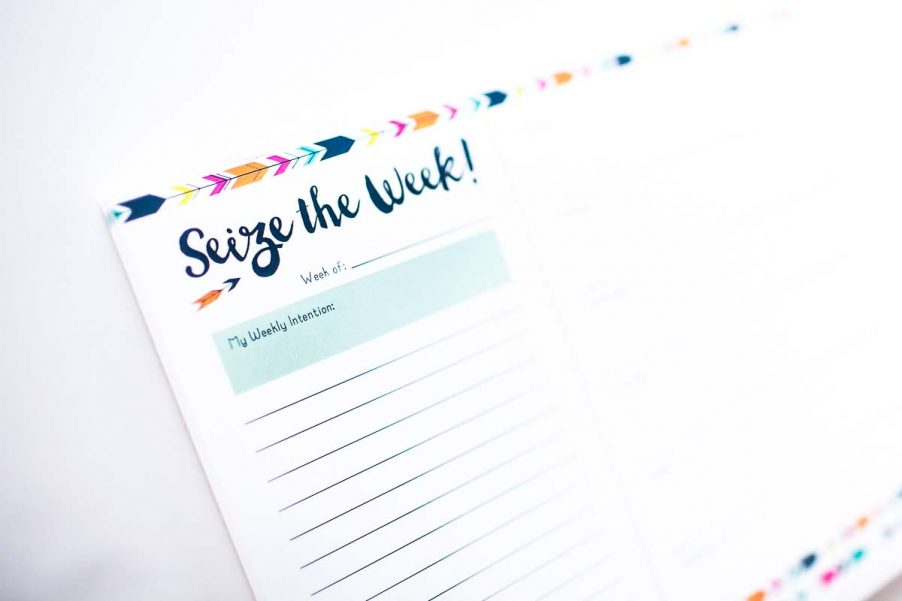 Seize the Week notepad