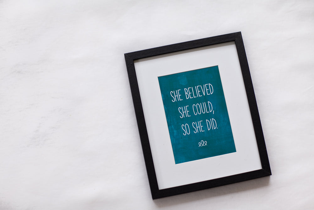 Annie Taylor Designs - She Believed She Could print - 8x10 Print - $14.00