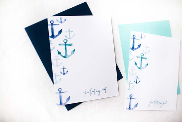 Annie Taylor Designs - You Float My Boat notecards