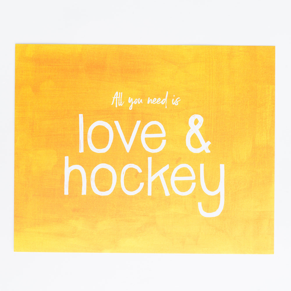Love & Hockey print