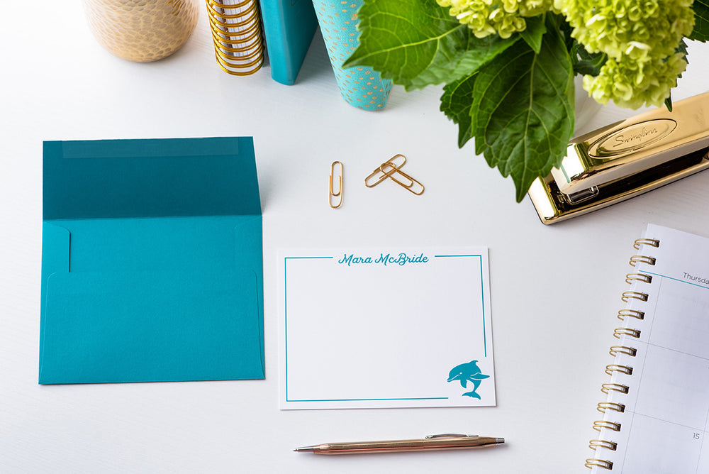 Dolphin Personalized Notecards