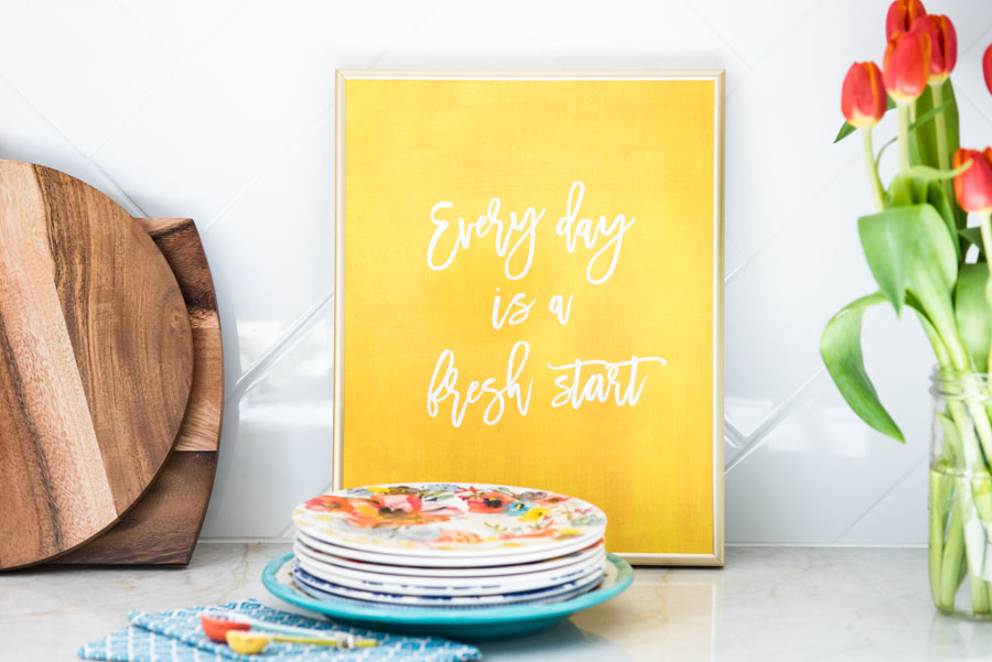 Annie Taylor Designs - Everyday is a Fresh Start print