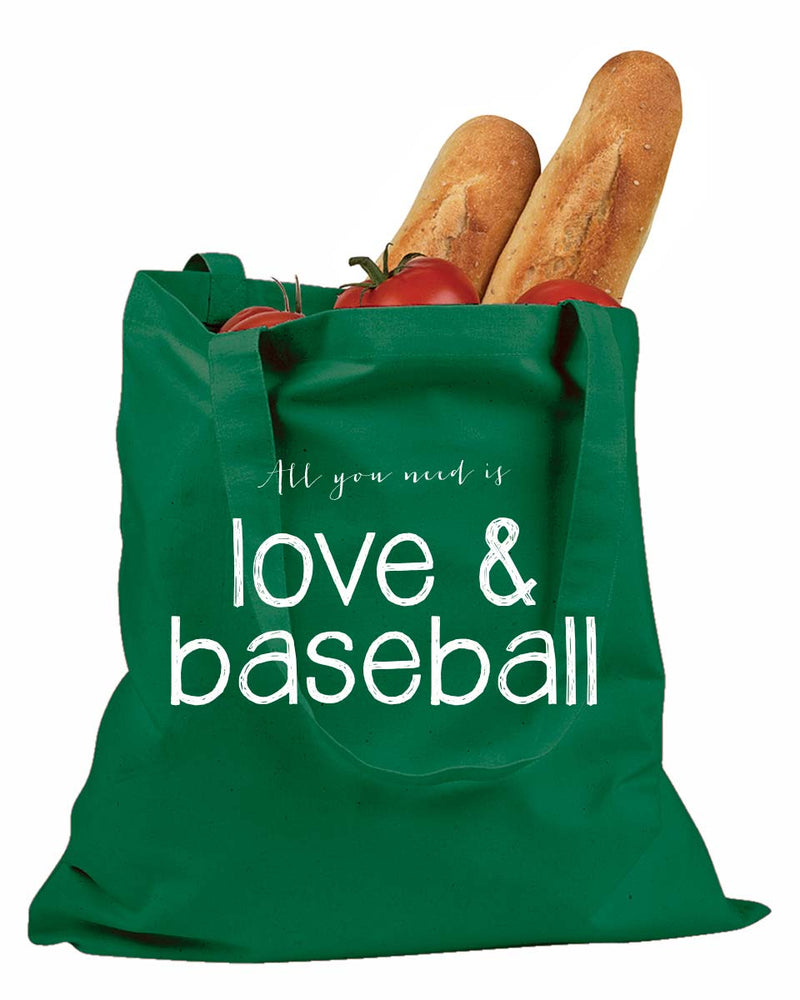 Love & Baseball Tote Bag