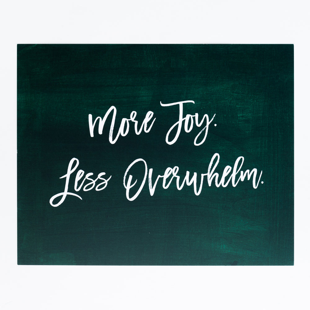 More Joy, Less Overwhelm print