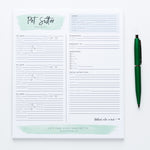 Pet Sitter Checklist notepad