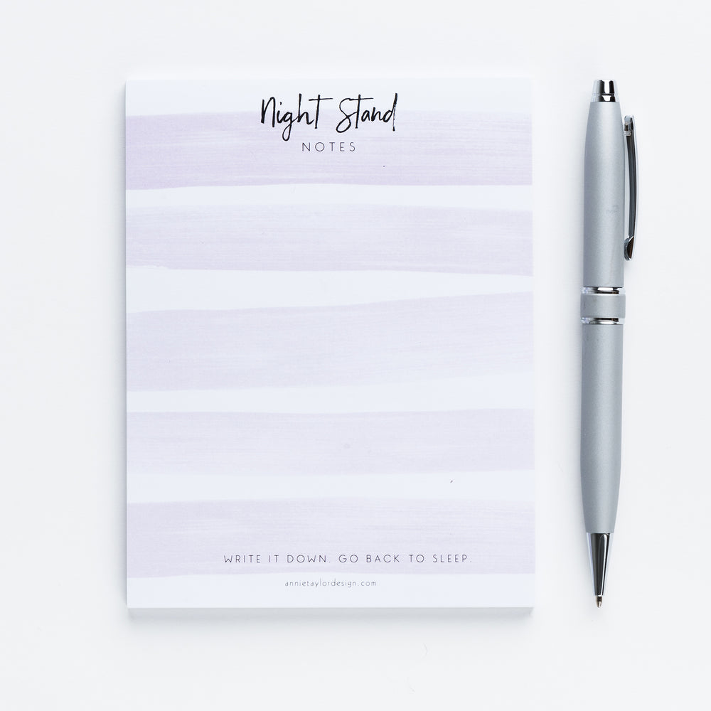 Jessica's Night Stand Notes notepad