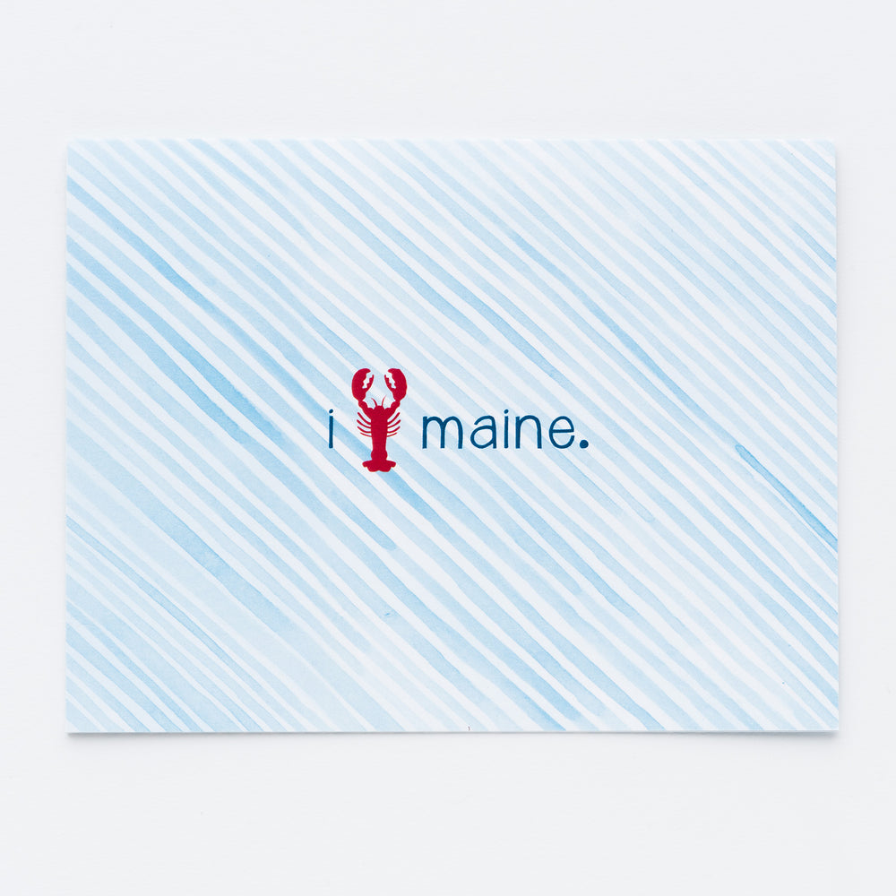 "I ""Lobster"" Maine Notecards"