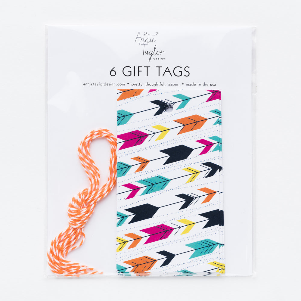 Modern Arrow hang tags
