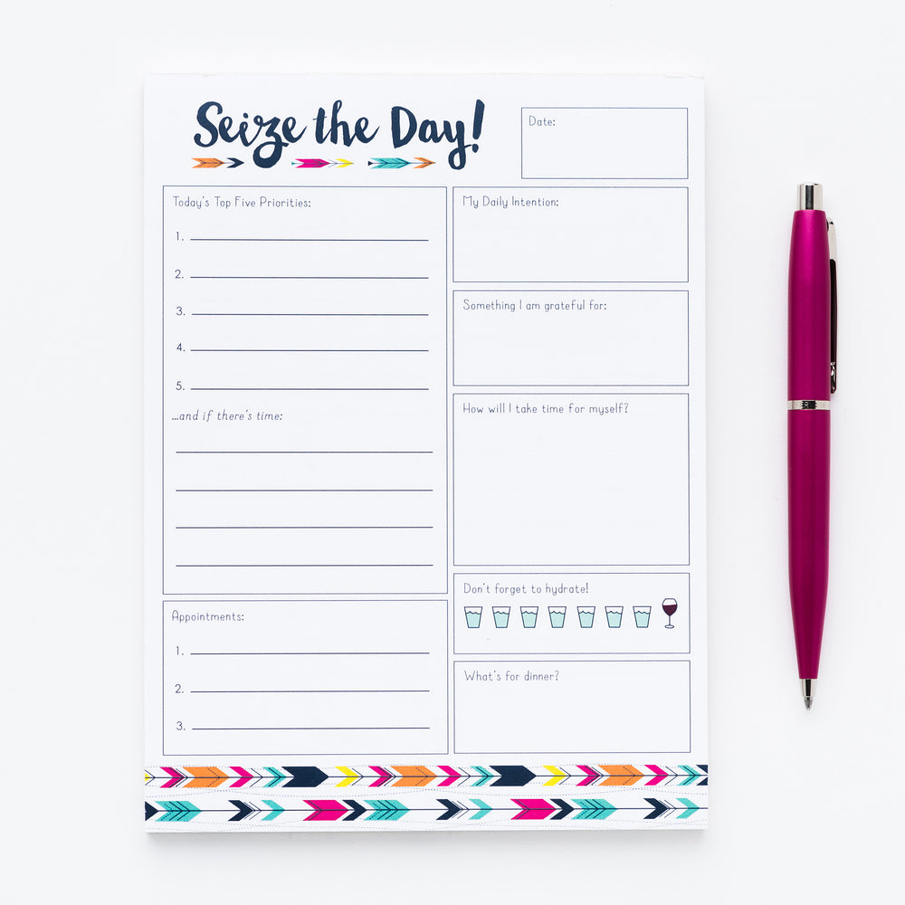 Seize the Day notepad