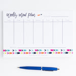 Follow your Arrow Weekly Meal Plan Notepad