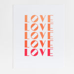 All the Love print