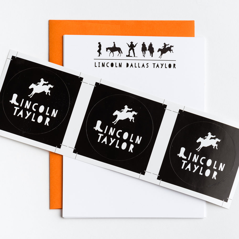 Kids Cowboy Personalized Notecards