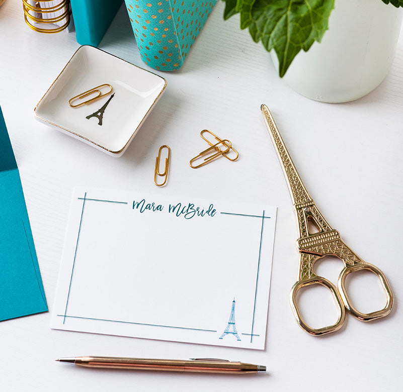 Eiffel Tower Personalized Notecards
